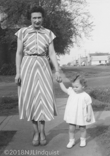 Mom with me at 16 months.
